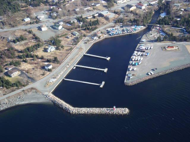 Aerial view of the Holyrood Marina.
